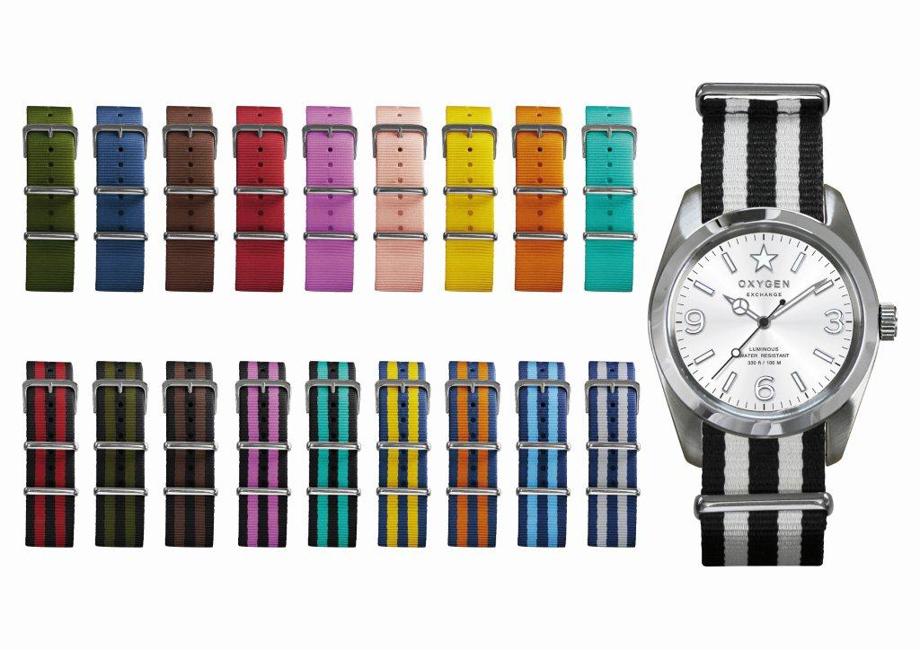 montre bracelet interchangeable