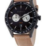 montre homme bracelet cuir marron